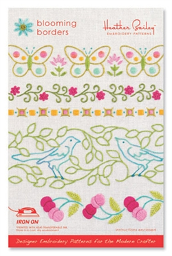 Blooming Borders - embroidery pattern