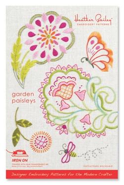 Garden Paisleys Embroidery Pattern