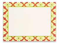 Photo Cards, Message - Tiled Poinsettia