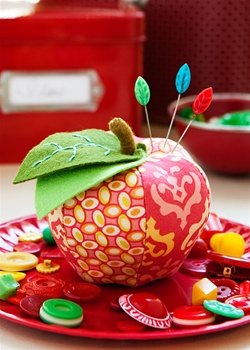 Apple Pincushion Kit - Red