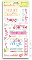 Word Art Rub-Ons - Enjoy