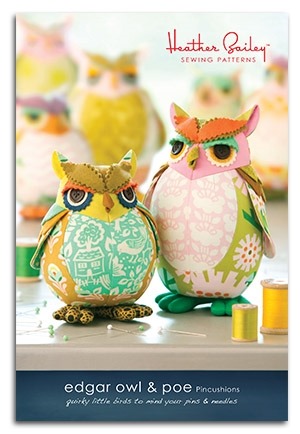 Edgar Owl and Poe Pincushions