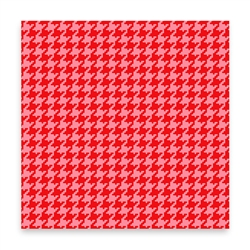 Houndstooth - red