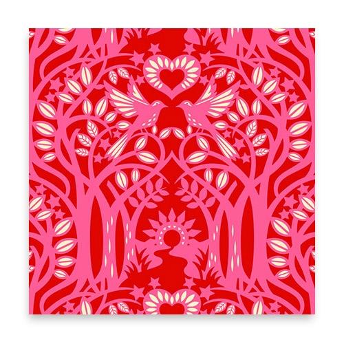Norwegian Wood - red