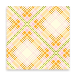 Summer Plaid - tangerine