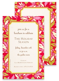 Invitations - Poinsettia