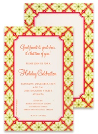 Invitations - Tiled Poinsettia