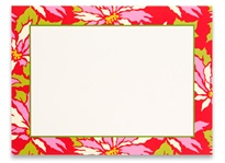 Photo Cards, Blank - Poinsettia