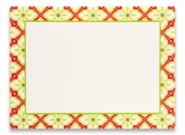 Photo Cards, Blank - Tiled Poinsettia