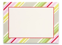 Photo Cards, Blank - Holly Stripe