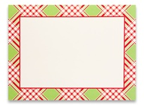 Photo Cards, Message - Plaid Charm