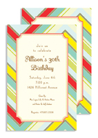 Invitations - Zag Stripe Blue