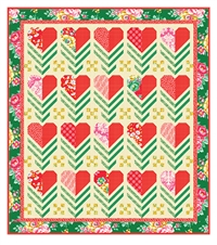 Hello LOVE Quilt Kit True Kisses Swoon Emerald
