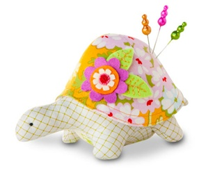 Turtle Pincushion Kit - Clementine