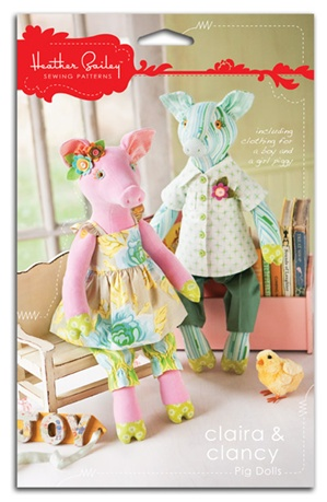Claira and Clancy Pig Dolls