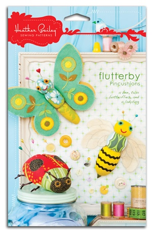 Flutterby Pincushions: Butterfly, Ladybug, and Bumblebee Pincushions. Bee, Toy, Sewing Pattern, Felt, Stuffed, Homemade, Handmade, Lady Bug